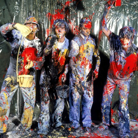 The infamous 'splatter shot' - the Stone Roses photographed by Kevin Cummins
